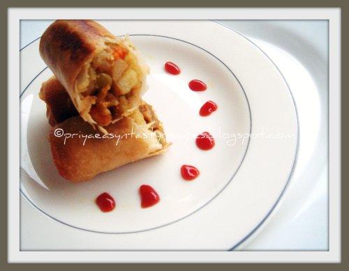 Mixed Veggies & Soya Kheema Spring Rolls