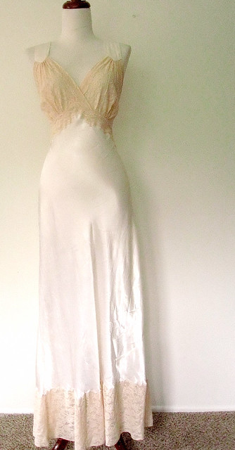 1940's Satin & Lace Nightgown