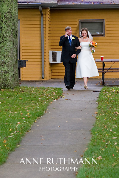 Bride & Tearful Dad Walk Down Aisle