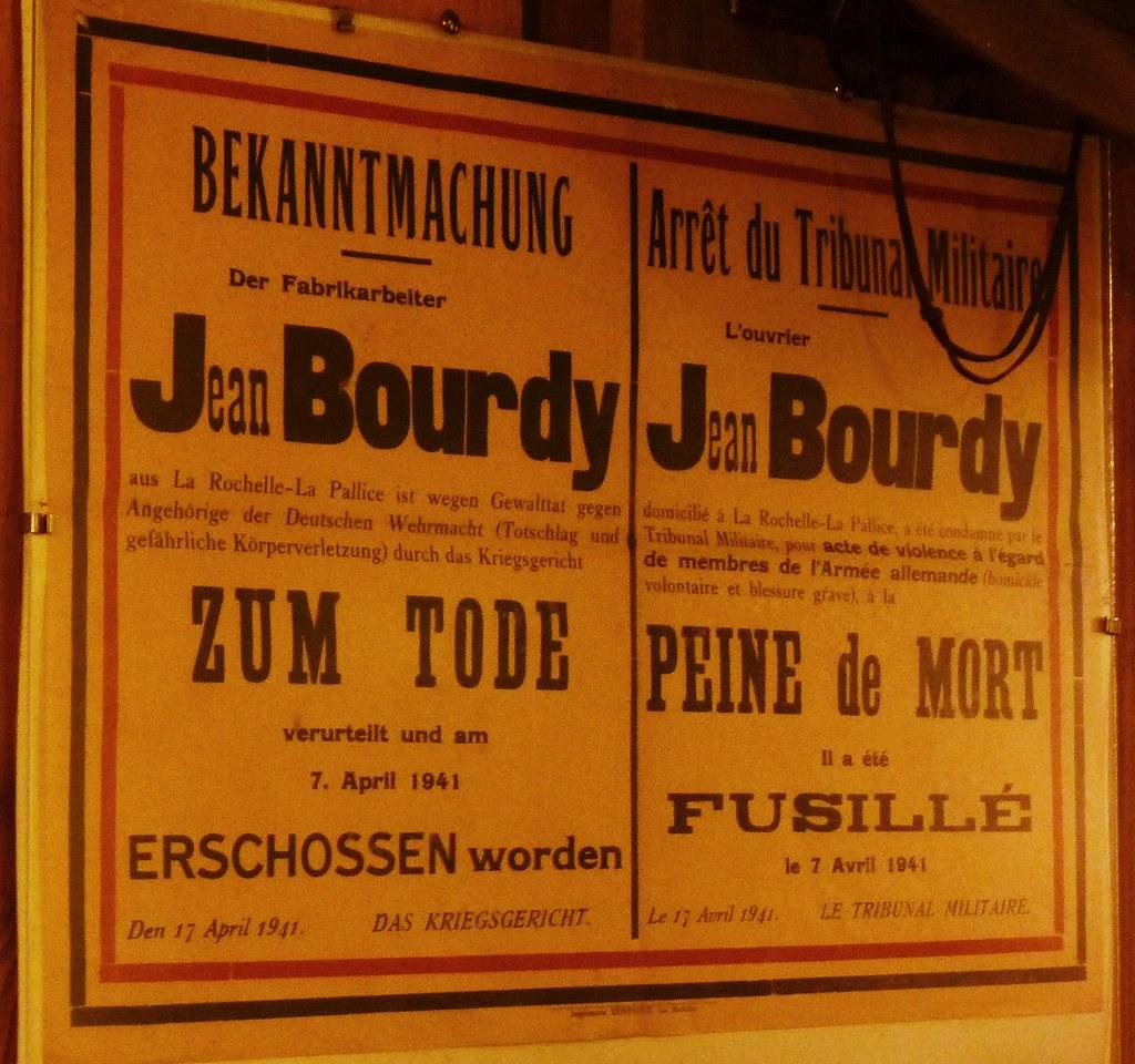 musée de la seconde guerre mondiale la rochelle , affiche