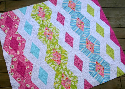 Diamond Chain Quilt - ready for binding