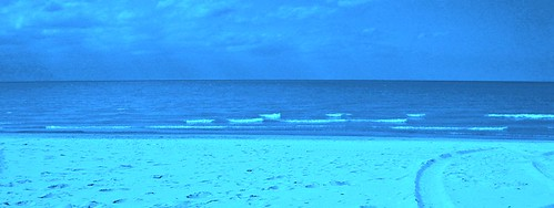 Miller Beach NW Indiana - Blue Tinted Photograph