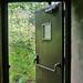 Crash bar door in boiler house