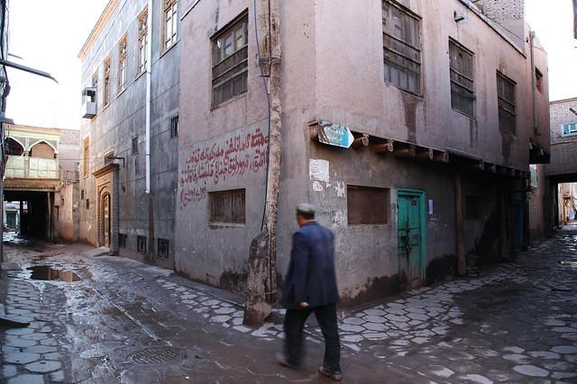 カシュガル旧市街の路地