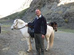 My fleabitten horse midway up the canyon - horses can go no further (jayselley) Tags: park three nationalpark asia desert september mongolia national beauties gobi exodus 2010 mongol gurvan yolynam vulturesmouth gurvansaikhan threebeauties saikhan mongolianadventure