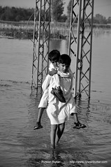 The Brother Hood (rizwanbuttar) Tags: pakistan kids brother young hood floods the rizwan kasur buttar