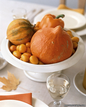Center pieces are the perfect touch to any fall theme table setting