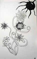Black Hole Sun (theHyperMonkey) Tags: flowers art drawing zentangle