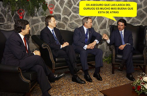Bush, Barroso, Blair, Aznar at Azores
