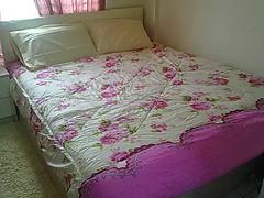 Queen size bed (homestaymcna) Tags: di kota homestay bharu