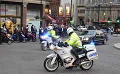 police motorcycle outriders escort limousin trafalgar square 5th October 2010 18:15.34pm (dennoir) Tags: square october trafalgar police motorcycle 5th escort 2010 limousin outriders 181534pm