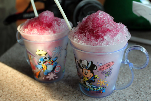 Our ice drinks in Adventureland