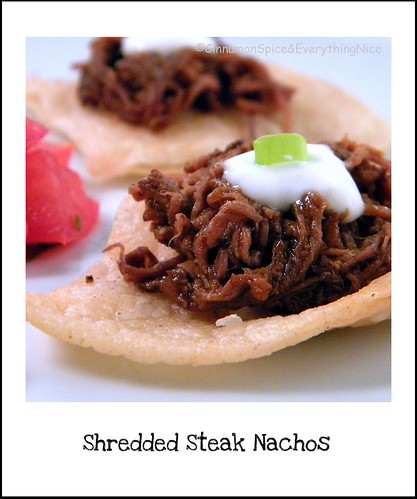 Shredded Steak Nachos
