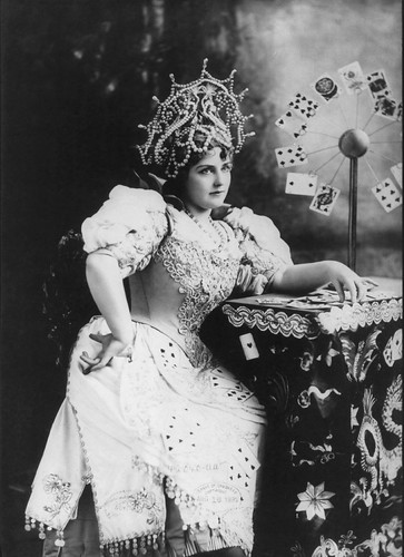 Lillian Russell as a fortune teller
