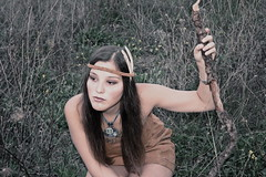 pocahontas // 2 (Candida Mezzasalma) Tags: wood woman love nature girl look field forest river book see virginia dress tales native tell indian side country down smith story fairy jungle captain sit pocahontas primitive colonialist