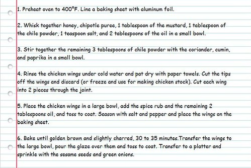 Bobby Flay's Honey Chipotle Chicken Wing Recipe