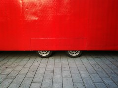 Red (Anders Uddeskog) Tags: cameraphone urban art mobile finland phone cellphone minimal mobilephone minimalistic tapiola pictureshow phoneography iphoneart iphoneography iphone3gs