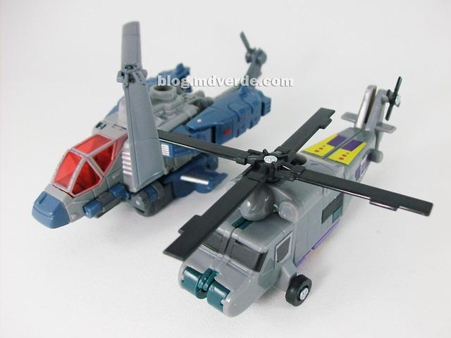 Transformers Vortex Universe Scout - modo alterno vs Vortex G1