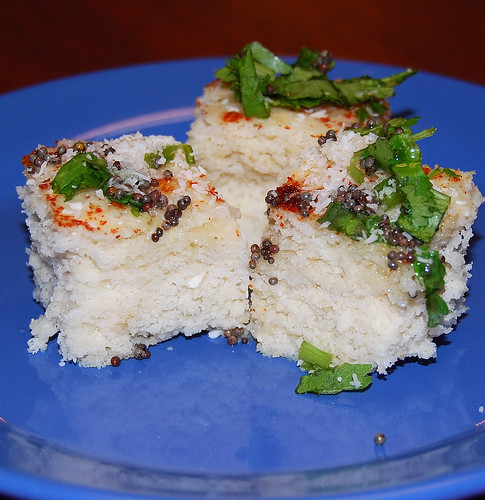 Dhokla, vegan and gluten-free