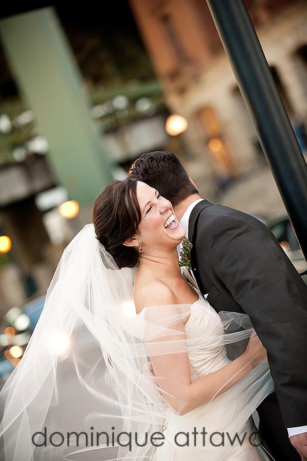 bride laughinh