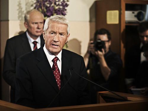 Torbjørn Jagland offentliggjør vinneren av Fredsprisen 2010 fredag 8. oktober.