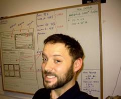 Hard At Work (Jason D. Moss) Tags: whiteboard mugshot plans wireframe portatrait