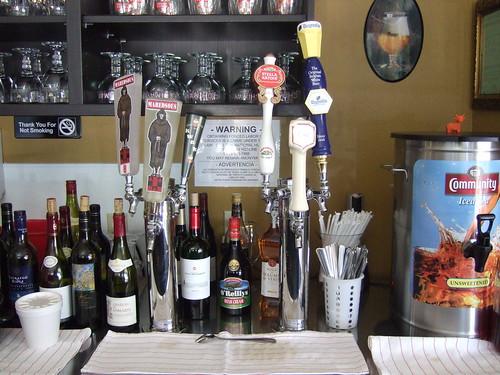 Belgian beers on tap