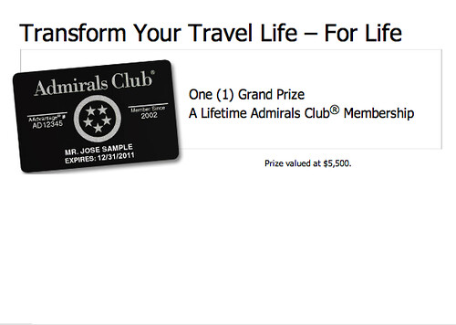Admirals Club Promotion