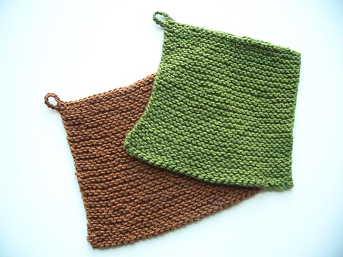 Chris' garter stitch washcloths