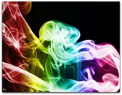 Smoking a Rainbow (Pink Flutterby   OFF) Tags: wallpaper black color colour macro colors canon rainbow colorful colours background smoke powershot colourful incense sx120is sx120