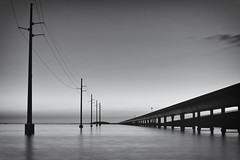 Seven Mile Bridge (Erice7) Tags: longexposure bridge blackandwhite bw movement marathon telephonepoles floridakeys sigma1770 9gnd