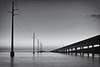Seven Mile Bridge (Erice7) Tags: longexposure bridge blackandwhite bw movement marathon telephonepoles floridakeys sigma1770 9gnd