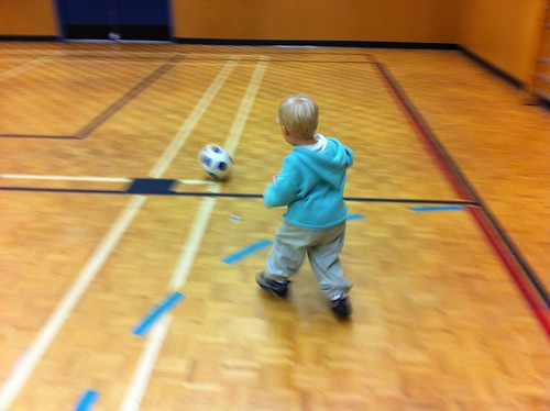 Finally, Jacob gets to play some soccer