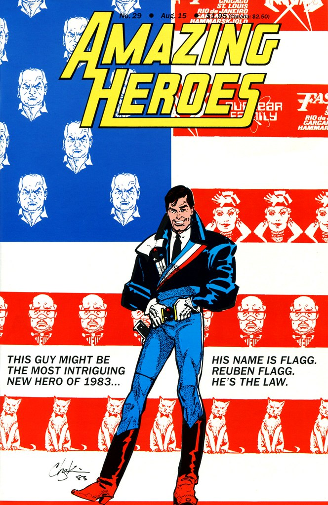 Amazing Heroes 29 American Flagg cover by Howard Chaykin 1983