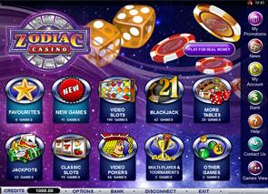 Zodiac Casino Lobby
