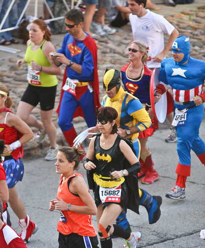 Super Heroes at the 2010 Chicago Marathon