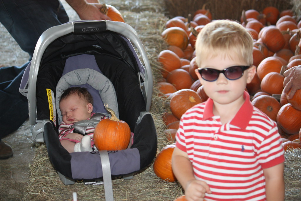 B and A at the pumpkin patch