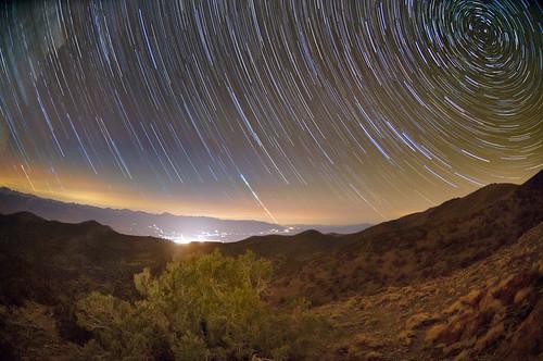 Stars over Bishop, California