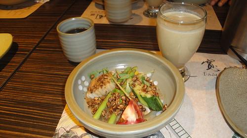 精力蔬果汁和和風沙拉