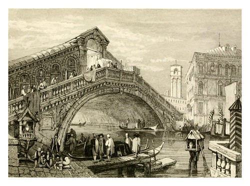 018-Puente Rialto en Venecia-The tourist in Switzerland and Italy-1830-Samuel Prout