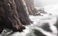 Primeval Mist (Laura A Knauth) Tags: ocean statepark park cliff brown white mist laura green nature rock oregon landscape photography rocks waves state pacific northwest cliffs oswald oswaldstatepark knauth lauraknauth lyteray