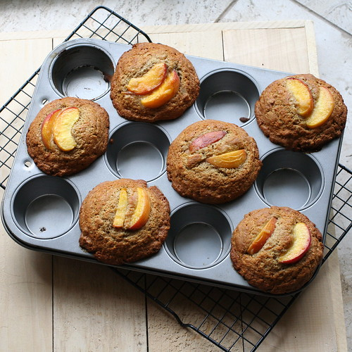Ginger Peach Muffins