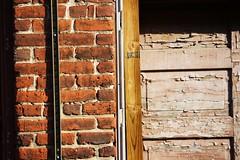 bricks and a door (robber_barons) Tags: door blue sky window buildings downtown top bricks bottom charlottesville dt minimalsim cville