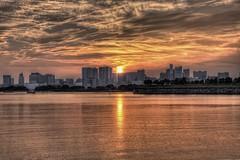 Tokyo bay sunset HDR (Walktheworld1) Tags: japan tokyo odaiba hdr rainbowbridge photomatix