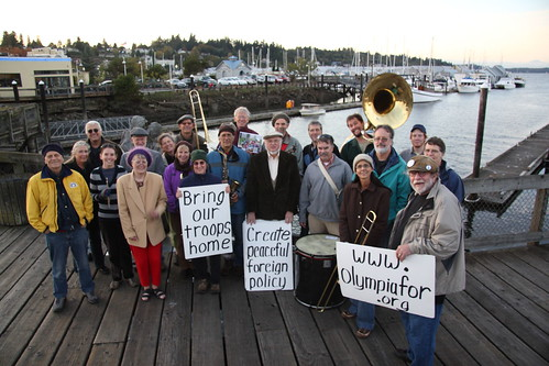 Friday 15 October 2010 Peace Vigil at Percival Landing