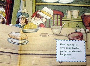 Illustration and Pie Quote in The Little Big Book of Comfort Food