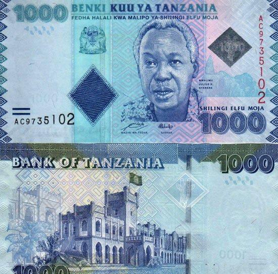 1000 Šilingov Tanzánia 2010(11)
