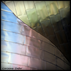 """Lignes & courbes""-"" Lines and curves "" (Corinne DEFER - DoubleCo) Tags: architecture muse bilbao reflet espagne lignes urbain colorisation titane courbes bicolore lignescourbes spiritofphotography carrfranais updatecollection trolledproud squarepoetry"