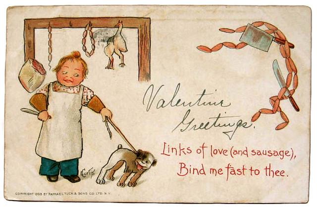Vintage Valentine: Love Sausages