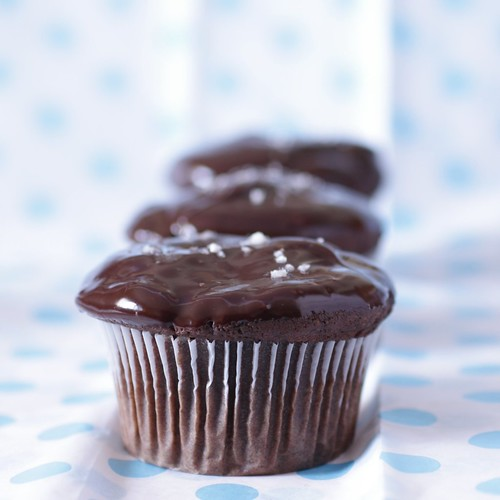 Salted Peanut Butter Chocolate Cupcakes